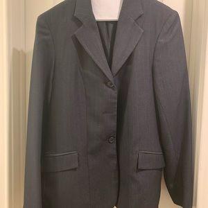 USPC Navy pinstripe show coat